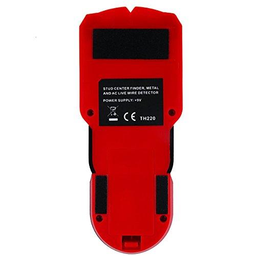 Professional Digitales Ortungsgerät Multifunktions Stud Finder Wand Scanner Detektor für Metall, Rohre,Stromleitung, AC Spannungsführenden Leitungen, Holz, Sound Warnung