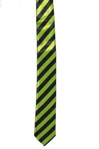schwarz gestreifte Krawatte - Unisex NEON (grün)