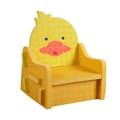 SunniMix Ungiftig PE Schaum Kinder DIY Stuhl Pretend Spielstühle Hocker Puzzle Stühle - Gelb