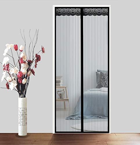 Zanzariera magnetica per balcone 70 * 200cm~ 180 * 220cm tenda zanzariera per porte d'ingresso,porte, cortili totalmente magnetica rete di ottima qualità tenda zanzariere,black,90 * 190(35 * 75in)