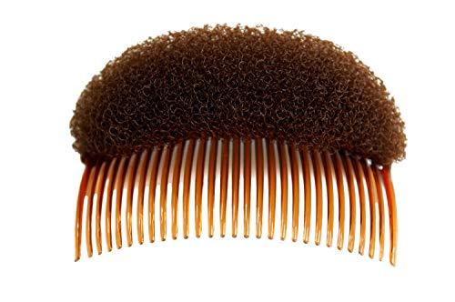 WIG ME UP - RH-047-brown donut coussin avec peignes pour coiffure chignon volume bouffant rembourrage brun 10x5 cm