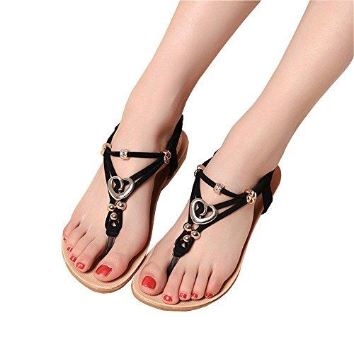 Korsar Senhoras Menina Verão Flats Sandália Chinelos Toe Femininos Chinelos Partido Rom T Trenner Favoritas Pingente Sapatos Sandálias De Tiras Strass Sapatos Preto De Cunhas 6wIrq67A