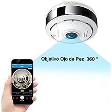960P HD IP Wifi Cámara de seguridad Inalámbrico FREDI, Cámara de Vigilancia Panorámica de 360 grados, Deteccion de Movimiento con Visión Vocturna de Infrarrojos /2 way talking/para Monitorización Doméstica / de Bebé y Mascotas