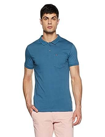 Fort Collins Men's Solid Regular Fit T-Shirt (929050_Air Force_Large)