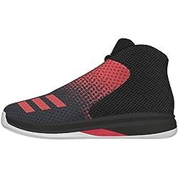 adidas Court Fury 2016 K, Zapatillas de Baloncesto para Niños, Negro (Negbas / Rojray / Ftwbla), 28 EU