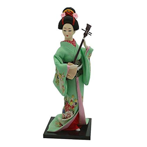 Homyl Traditionelle Japanische Kimono Geisha / Koreanische Geisha / Japanischen Samurai Puppe Dekofigur - 12 Zoll - Japanische Geisha ()