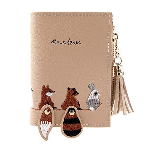 Cardith Damen Einfache Katze Kurze Brieftasche Bonbonfarben Geldbörse Multi Layer Kartenhalter - Einfach Katze Kostüm Für Arbeit