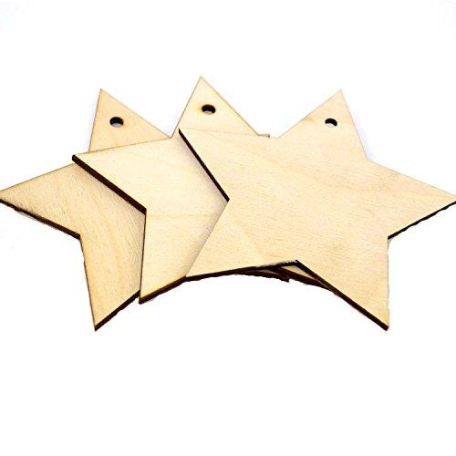 10 x Forma de estrella de madera