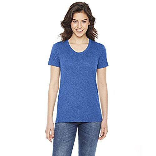 Maglietta da donna Poly/cotone a maniche corte (BB301) leggermente curvo Scollo American Apparel Heather Lake Blue Medium