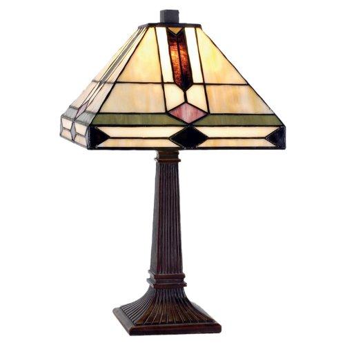 Lumilamp 5LL-8830 Schreibtischlampe, Buro Leuchte, Tischlampe, Tiffany Lampe, Glas, Mehrfarbig - Tiffany-art-glas-tisch-lampe