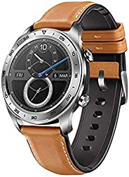 HONOR TLS-B19 Watch Magic Smart Watch with Leather Strap, 128 MB, 16 MB RAM, 42mm - Beige