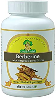 Sushrut Ayurved Industries - Good Health Berberine Natural Extracts (500mg X 60 Veg Capsules) - Dietary Herbal