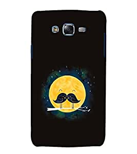Vizagbeats Sparrow Pair Fullmoon Moonstache Black Back Case Cover for Samsung Galaxy J5