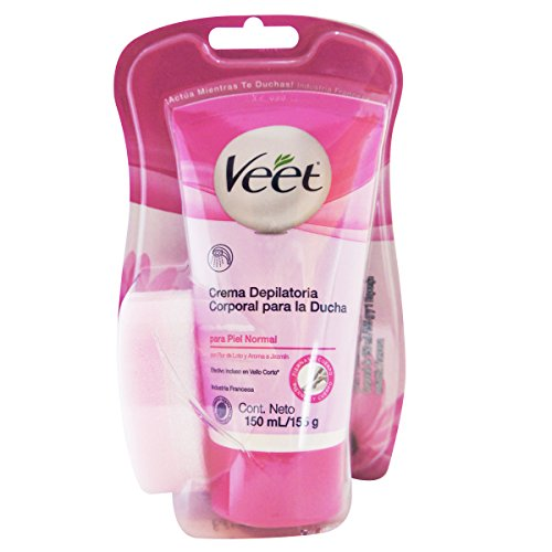 Veet 20664 Dusch-Haarentfernungscreme für normale Haut, 150ml