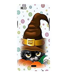 Printvisa Animated Black Cat With Santa'S Hat Back Case Cover for Micromax Canvas Sliver 5 Q450::Micromax Canvas Silver 5
