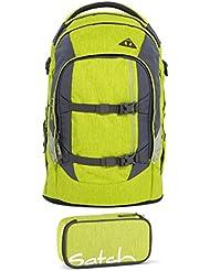 Satch Pack Ginger Lime 2-tlg. Set Schulrucksack + Schlamperbox