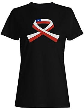Nuevo Mundo Chile Bandera Mundo camiseta de las mujeres l675f