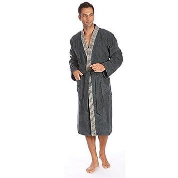 Egeria Bademantel Saunamantel Kimono 100% Baumwolle, 360 g/m² Bruno Herren  Slate Grey L: Amazon.de: Küche & Haushalt