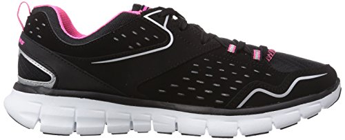 Skechers (SKEES) Synergy - Front Row, baskets sportives femme noir (BKHP)