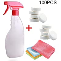 Coomir Car Cleaning Tool Set Wipe Cloth Spray Bottle Concentrated Effervescent Tablet Home Glass Cleaner Specifications:Type:Car Windshield Glass Cleaning Tools Set Spray