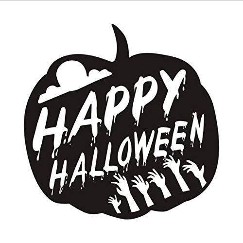 bis Wandtattoos Für Kinderzimmer Halloween Dekoration Hallowmas Festival Wandaufkleber Shop Glaswanddekor 59 * 59 cm ()