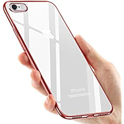 Tronisky Coque iPhone 8 Silicone, Coque iPhone 7, Souple Housse iPhone 8 / iPhone 7 TPU Bumper Case Silicone Gel Shock-Absorption Anti-Rayures Housse Étui pour Apple iPhone 7 / iPhone 8, Or Rose