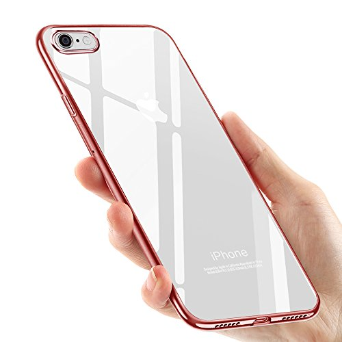 tronisky 8RedTPU Coque iPhone 8 Silicone, Coque iPhone 7, Souple Housse iPhone 8 / iPhone 7 TPU Bumper Case Silicone Gel...
