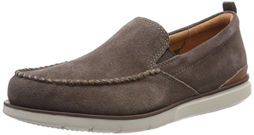 Clarks Edgewood Step, Mocassins Homme Gris (Taupe Suede)