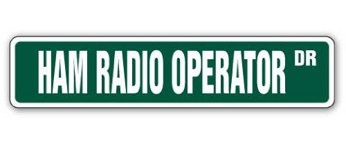 Ham Radio Operator Street Sign 2Zwei Wege Radios Amateur| Indoor/Outdoor | 45,7cm Breit