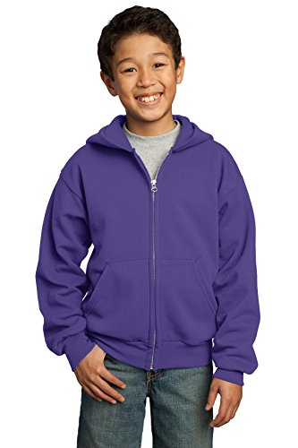 Port & Company pour homme ultime Full Zip Sweat à capuche Violet - Violet