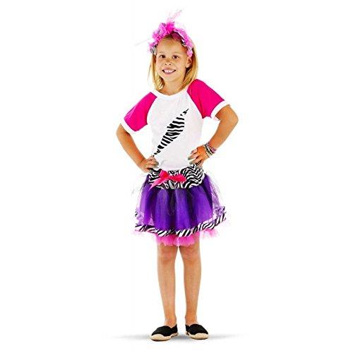 Folat 21849 - Königin der 80er Jahre Pop-3-Stück-Packung Kind Größe M (Jahre-kostüm Der 80er Mädchen)