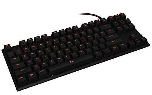 HyperX Alloy FPS Pro Tenkeyless Mechanical Gaming Keyboard, Cherry MX Red, Red LED (HX-KB4RD1-US/R1) 41xcqPaTpjL