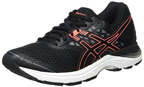 5c672e63fd Asics T7D8N9006, Zapatillas de Running para Mujer, Negro (Black/Flash Coral/