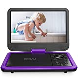 """COOAU Upgraded Portable DVD Player 12.5"""" with HD 10.5"""" Swivel Screen, Support All"""