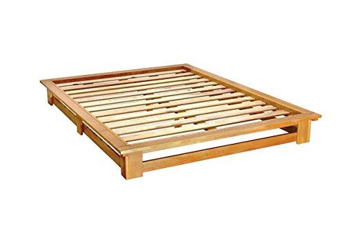 Abc meubles - letto matrimoniale futon alteb - alteb - miele, 160x200
