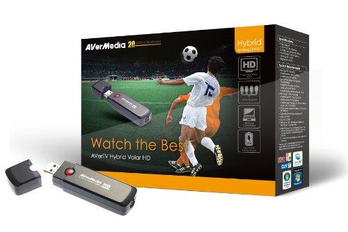 Aver Media AverTV Hybrid Volar HD FIFA Edition - Sintonizador de TV (DVB-T, 1080i, 720p, H.264, MPEG2, USB, FM, 512 MB) Gris