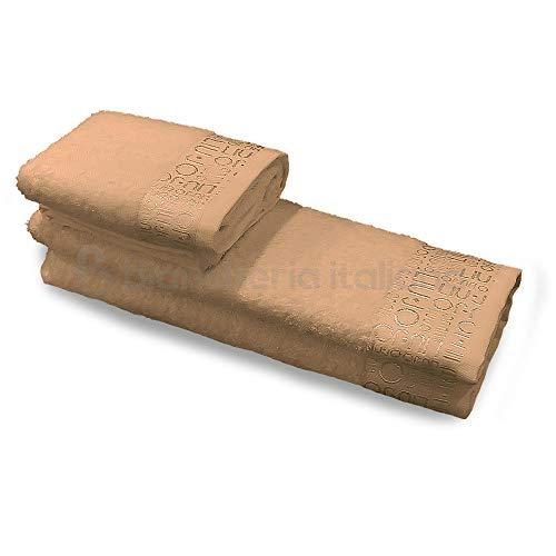 Liu jo milano set asciugamani 1+1 logata lb723b (sabbia) fe2f8564919