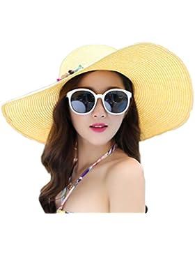 WDILO Elegante Sombrero de Paja
