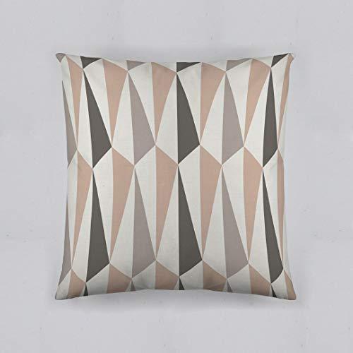 etérea 100% Baumwolle Dekokissenhülle Kissenbezug Kissenhülle, Origami Gestreift Braun 40 x 40 cm -