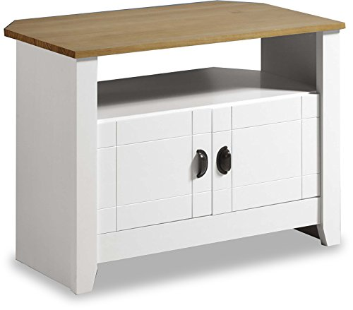 Valufurniture Ludlow Painted White And Oak Tv/entertainment Stand
