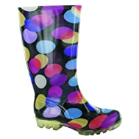 Cotswold PVC Long Wellington / Womens Boots / Weather Wellingtons (39 EUR) (SPOTS)
