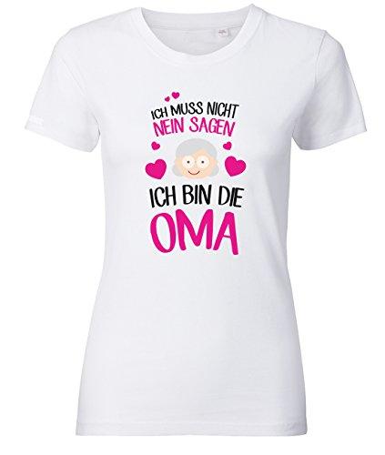 Jayess Ich muss Nicht Nein Sagen - Ich Bin die Oma - Weiss - Women T-Shirt by Gr. XXL - Familie Womens Pink T-shirt