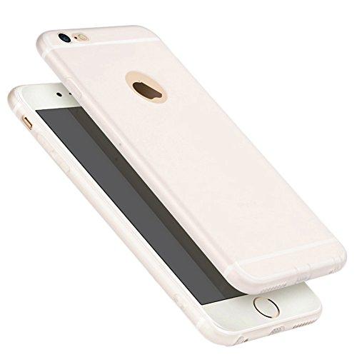 Ultra Dünn [ Passt Perfekt ]Feder Leicht Soft Flex Silikon Hülle Für Apple iPhone Bumper Cover Schutz Tasche Schale 6/6s Grau Weiß