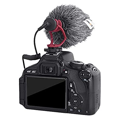 Comica CVM-MF3 Outdoor Microphone Furry Windscreen Muff Professional Wind Cover Compatible with CVM-VM10II Mini Shotgun Video Microphone Rode Movo Boya Saramonic Similar Mics