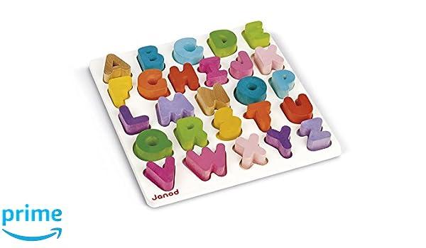 Janod I Wood Alphabet Puzzle: Amazon co uk: Toys & Games