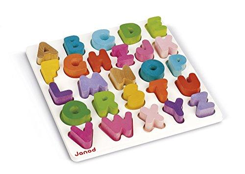 Janod J05566 - Puzzle in Legno Alfabeto
