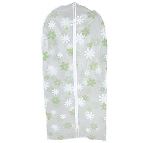 Housse de Vêtements Dessiné Floral Sac De Protection Couvercle Antipoussière - Vert