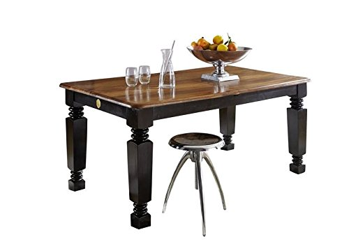 Table extensible 160-200x90cm - Bois massif de palissandre laqué - Inspiration coloniale - NEW BOSTON #150