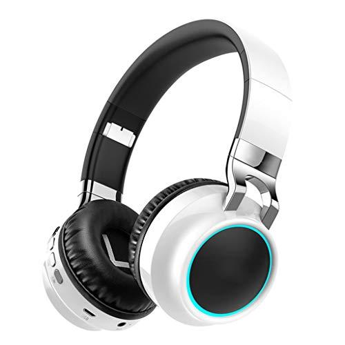 AJAHBGSMXD Echte Kopfhörer, Headset Bluetooth Wireless Mobile Computer, Mit Mikrofon, Noise Reduction Monitor Sport Gaming Headset Universal Running (Weiß)