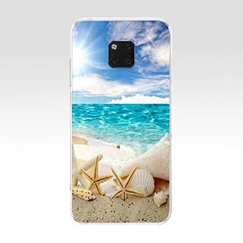 IJDGAK Téléphone en Silicone Transparent pour Huawei Mate 20 Pro pour Huawei Mate 20 Couverture Coque Capa pour Compagnon 20 33333